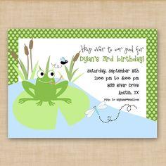 "Maybe I could ""girly up"" this invitation. Monkey Birthday, 3rd Birthday, Birthday Ideas, Printable Birthday Invitations, Party Time, Frog Frog, Girly, Monkeys, Handmade Gifts"