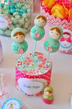 Matryoshka Cake Pops