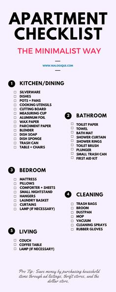 The Ultimate First Apartment Checklist | Hirschfeld Homes