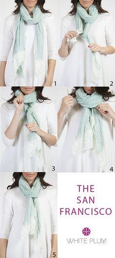 nouer un foulard rectangulaire
