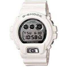 Casio DW6900MR-7 G-shock Mirror Metallic Silver Dial White Resin Watch Casio. $80.79