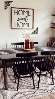 Modern Farmhouse Style, Home Free, Dining Bench, Dining Rooms, Unique Colors, Sweet Home, Area Rugs, Furniture, Kitchen Ideas