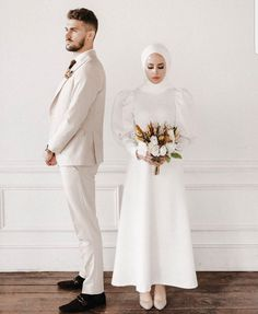 22 Ideas For Hijab Wedding Dress. Inspirational and elegant wedding outfit ideas for the hijabi bride. dresses muslim niqab 22 Ideas For Hijabi Wedding Dress - Zahrah Rose Arabic Wedding Dresses, Arab Wedding, Muslim Wedding Dresses, Muslim Brides, Wedding Dresses Photos, White Wedding Dresses, Muslim Couples, Muslim Wedding Photos, Elegant Wedding