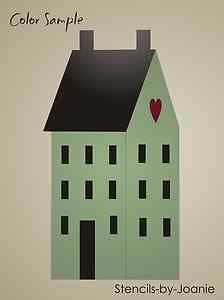 free images to make saltbox houses   Stencil New England Saltbox House Primitive Family Sign   eBay