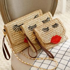 $9.94 (Buy here: https://alitems.com/g/1e8d114494ebda23ff8b16525dc3e8/?i=5&ulp=https%3A%2F%2Fwww.aliexpress.com%2Fitem%2F2015-new-fashion-red-lip-straw-bales-handbag-ladies-handmade-woven-straw-message-bag-single-shoulder%2F32442275527.html ) 2016 Knitted Straw bag bales handbag ladies handmade woven straw message bag shoulder handbag woman beach bag Rattan Bag for just $9.94