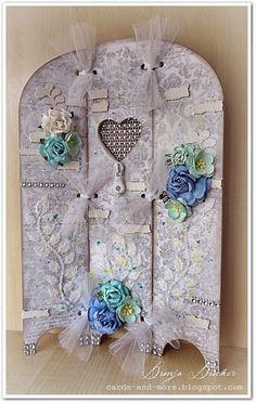 ❤ by Dunja Dücker | Mit Liebe für's Detail | Cards und More | : Love ♥ You | MDF Triptech with Heart DD