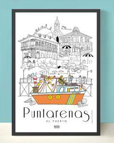 Puntarenas poster $18 at www.holalolashop.com
