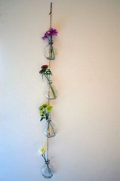 Love this easy DIY (for hanging against corrugated metal walls?)
