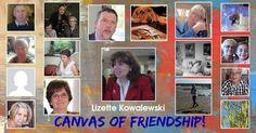 Delen met de wereld een doek van uw vriendschap.  Het doek heeft al je vrienden en familie in het.  Hebben paintful dag!