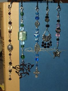 shepherd's hook bookmarks...these are some of my favorites that i made.  they sold quickly at a local craft show... =)