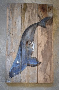 Right Whale woodburned and hand painted on by PaynesGrae on Etsy.