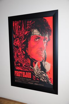 Rambo First Blood @Mondogallery l Art by Ken Taylor in one of our Frames. Print purchased From @Mondo News Want to frame your print: www.SpotlightDisplays.com Ken Taylor, First Blood, Framed Prints, Art Prints, Frames, Painting, News, Art Impressions, Frame