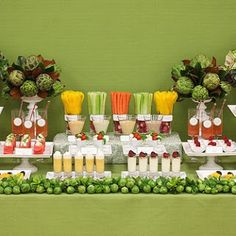 Fruit and vegetable display - healthy eating for your next event or wedding