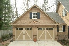 Replacement Garage Doors by EXOVATIONS. Carriage Garage Doors with Glass & Trellis. | Atlanta, Georgia
