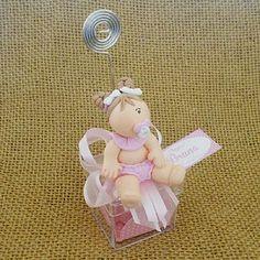 Lembrancinha Maternidade e Chá de Bebê Caixa com Bebê Biscuit e Bombom $7.50