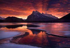 The Beginning by Marc Adamus, Mount Rundle, Banff National Park, Alberta