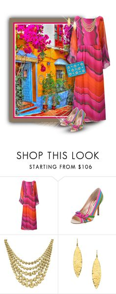 """""""Marbella, Spain, & 1980s Hanae Mori Dress"""" by franceseattle ❤ liked on Polyvore featuring MARBELLA, Hanae Mori, Marco Bicego, Lisa Stewart and Emilio Pucci"""