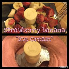"""Banana-Strawberry """"Ice Cream"""" (21 Day Fix Approved)"""