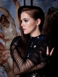 Actress Zoey Deutch stuns in Marc Jacobs SS14 Herringbone Sequin on the cover of BELLO magazine!