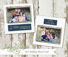 Rustic Woodsy Holiday Card by Jeneze on Etsy, #holidaycard , #christmascard