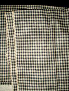Early 1900 Blue Check Factory Homespun Fabric Yardage