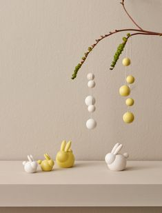 Pupu Bunny - Yellow - 2 H. This cute little Pupu Bunny is the perfect guest at your Easter table.s Easter decorations represent design with enduring beauty. Designed by Kaija Aarikka. Easter Crafts, Crafts For Kids, Diy Fimo, Pearl Garland, Small Sculptures, Easter Tree, Polymer Clay Art, Clay Crafts, Wooden Beads