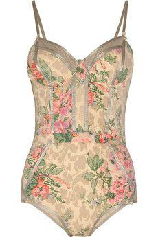 Zimmermann - Devoted floral-print swimsuit.