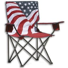 Outdoor Furniture Patio Chair Camping Lawn Folding Chairs Portable Beach US Flag #QuikChair