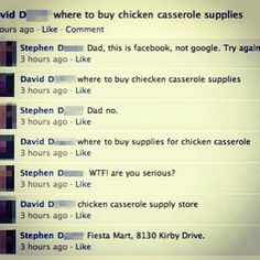 Funny parents on Facebook