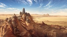 ArtStation - The Parched Burg, Thomas Chamberlain - Keen