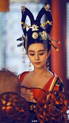 """Fortune Cookie: ~ Hanfu: Traditional Chinese costume, worn by Fan Bingbing in """"Empress of China. Traditional Fashion, Traditional Chinese, Chinese Style, Traditional Dresses, Wu Zetian, Costume Ethnique, The Empress Of China, Fan Bingbing, Chinese Clothing"""