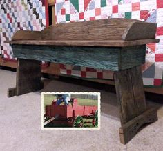 Buckboard Wagon Bench (original Restored)
