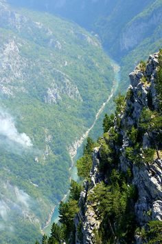 Tara River Canyon, Montenegro. The Tara River Canyon, also known as the Tara River Gorge, is the longest canyon in Montenegro. It is 82 kilometers long and is 1,300 meters at its deepest, making it the deepest river canyon in Europe. (V)