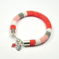 Bead Crochet Bracelet. Rope Bracelet. Color by ArtStyleBizu, $29.00
