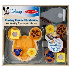 Melissa & Doug Disney Mickey Mouse Clubhouse Wooden Flip and Serve Pancake Play Food Set Baby Girl Toys, Toys For Girls, Kids Toys, Cosas American Girl, Wooden Play Food, Disney Mickey Mouse Clubhouse, Barbie Doll Set, Play Food Set, Toddler Boy Gifts