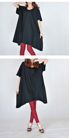 Bust 58 Soft Tshirt tops casual loose dress Cotton by FashionOrgy, $49.90 on www.etsy.com the real BOHO chic