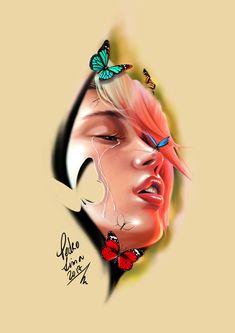face borboletas e natureza  / face butterflies and nature