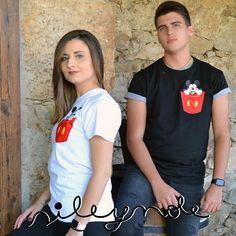 Camiseta unisex. Bolsillo Mickey t-shirts. Custom. Personalizada. Algodón. Camiseta original. Vinilo textil. Sile y nole. de Sileynole en Etsy