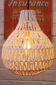 Woven Pendant Light Woven Pendant Light with vintage style LED bulb Diy Light Shade, Light Shades, Metal Ceiling, Ceiling Rose, Diy Pendant Light, Pendant Lighting, Pendant Lamps, Woven Shades, Outdoor Light Fixtures