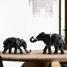 Animal Statue DIY Craft Miniature Model Micro Elephant Figurine Resin Ornaments