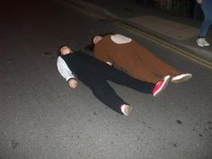 Lie in the middle of the road at night in my onsie :)