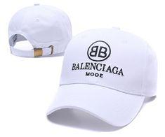 2db2f0ed8d Men s   Women s Balenciaga Classic With BB Mode Logo Curved Dad Cap - White  (Copy Ori)