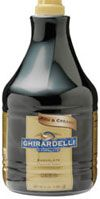 Ghirardelli Dark Chocolate Sauce. Specifically created for specialty coffee shops to make the ultimate mocha. Taste profile is smooth and creamy, and would be classified as a milk chocolate taste. #ghirardelli #darkchocolate #sauce #chocolatesauce