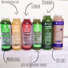 a Healthy and Wealthy Life did a juice cleanse with Suja Juice.did a juice cleanse with Suja Juice. Suja Juice Cleanse, One Day Juice Cleanse, Juice Cleanse Recipes, Detox Recipes, Juice Cleanses, Juicer Recipes, Whole Foods Juice Cleanse, Smoothie Recipes, One Day Detox