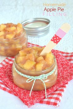Easy homemade apple pie filling