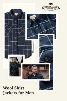 Our men's long sleeve button down shirt jacket is the perfect weight for brisk mornings or cool evenings. Dress it up with a blazer for that lunch meeting. Or, for casual style, outfit it with jeans and boots. Available in multiple colors, these wool blend shirt jackets make great gifts for guys | dads | men who have everything. #giftsforhim #mensfashion Great Gifts For Guys, Casual Professional, Men's Outerwear, Wool Fabric, Winter Wardrobe, Shirt Jacket, Mornings, Men's Style, Jeans And Boots