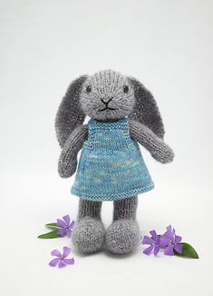louisa | fuzzy grey bunny modelling the new pinafore dress. … | Flickr