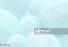 Stock Illustration : Abstract three dimensional grid pattern on low poly spheres