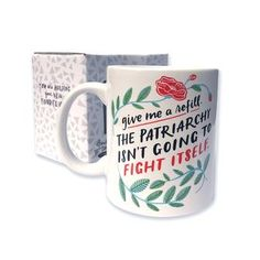 Patriarchy Refill Gather your strength however you can! We have a long, long way to go. - ceramic mug - Dishwasher and microwave safe-Comes in a sturdy box Easy Gifts, Cute Gifts, Silver In The City, Smash The Patriarchy, Wise Women, Drinkware, Gift Guide, Coffee Mugs, Give It To Me