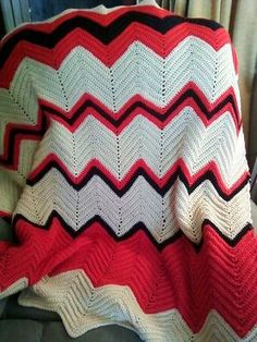 Easy crochet ripple afghan instructions